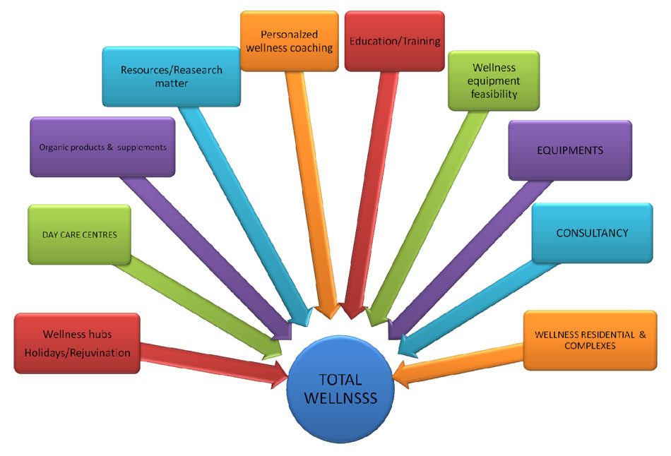 Chaitanya Wellness Research Institute Total Wellness Concept Diagram